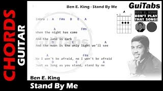 Ben E. King - Stand By Me ( Lyrics and GuiTar Chords ) 🎸