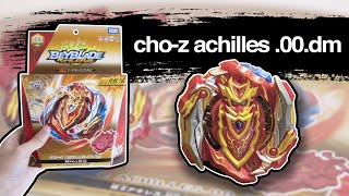 B-129 CHO-Z ACHILLES 00.Dm + Long Beylauncher LR Unboxing & Review! - Beyblade Burst Chouzetsu