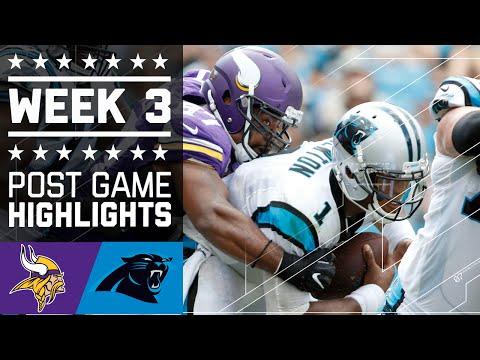 Vikings Vs Panthers Nfl Week 3 Game Highlights