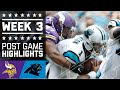 Vikings vs. Panthers (Week 3) | Post Game Highlights | NFL