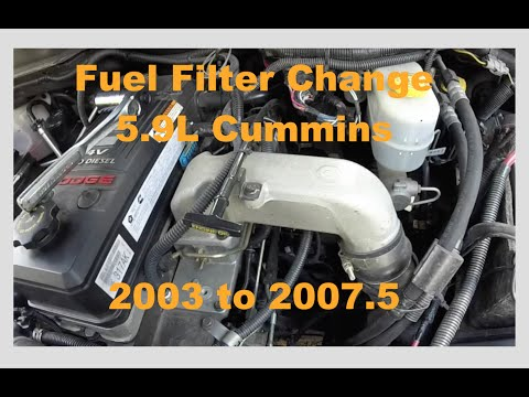 06 Dodge Cummins Fuel Filter