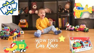 WOW TOYS - Leo Pretend Play Car Race. 30+ Disney Cars, Fisher Price and Ikea Toys