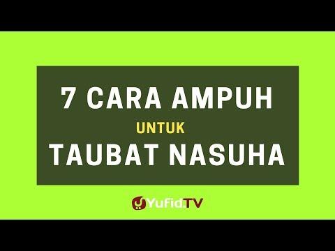 7 Cara Ampuh untuk Taubat Nasuha – Poster Dakwah Yufid TV