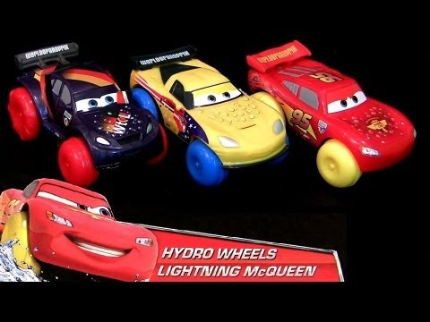 2013 Cars 2 Hydro Wheels Water Toys Lightning McQueen Jeff Gorvette, Max Schnell Disney Pixar NEW