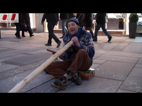 Michael (Germany). Didgeridoo. Vienna Street Performers by RussianAustria (Full HD)