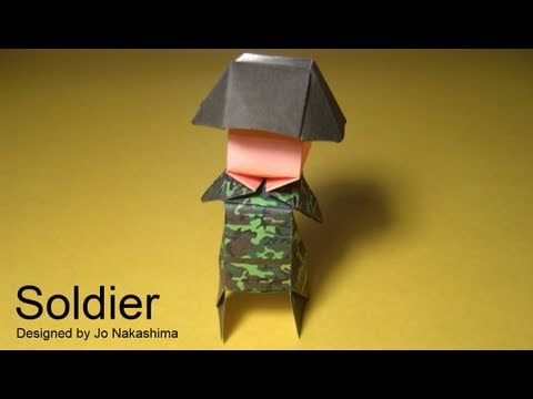 Солдат - схема сборки оригами