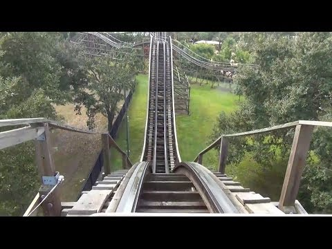 Coastersaurus Wooden Roller Coaster POV New GCI Trains Legoland Florida