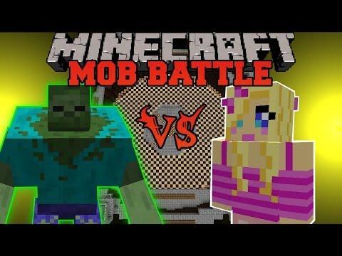 MUTANT ZOMBIE VS GIRLFRIEND - Minecraft Mob Battles - Mutant Creatures and Girlfriend Mods