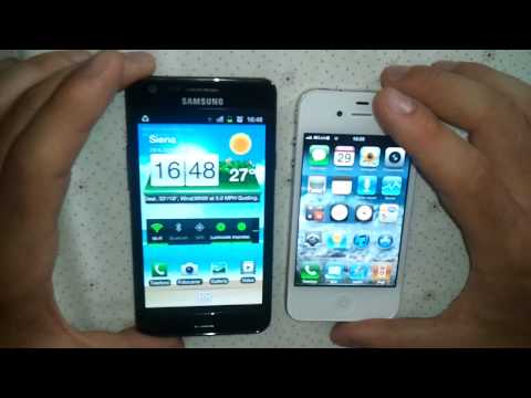 Impressioni e confronto Samsung Galaxy S2 vs Apple iPhone4 white