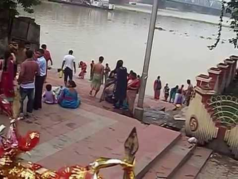 Woman Bath At Ganga River video
