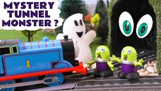 Thomas The Tank Engine Spooky Tunnel Monster with funny Funlings Halloween Learn Colors TT4U