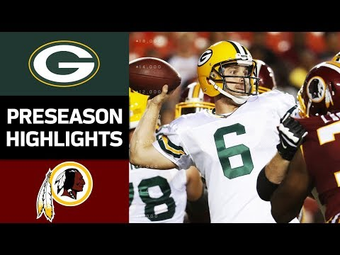 Packers Vs Redskins Nfl Preseason Week 2 Game Highlights