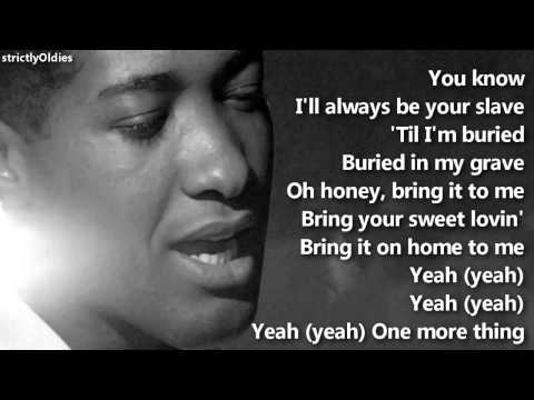 Sam Cooke Bring It On Home to Me lyrics Music Videos