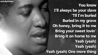 Watch Sam Cooke Bring It On Home To Me video