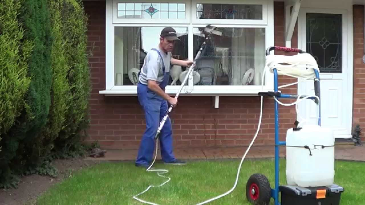 Window Cleaning Tips Diy Water Fed Pole Trolley Youtube