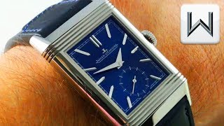2018 Jaeger LeCoultre Reverso Tribute Small Seconds BLUE DIAL Q3978480 Luxury Watch Review