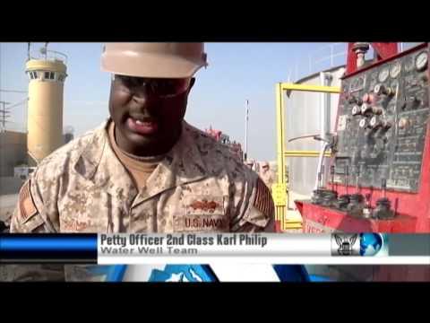 Seabees repair water well at Bagram Air Field, Afghanistan