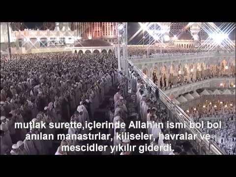 Hac Suresi Kabe İmamı Sudais/Shuraim Türkçe Altyazılı Mealli