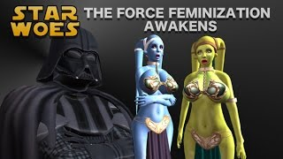 Star Woes - The Force Feminization Awakens (TG TF Animation)