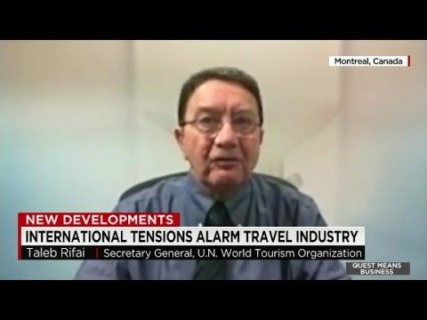 International tensions alarm travel industry