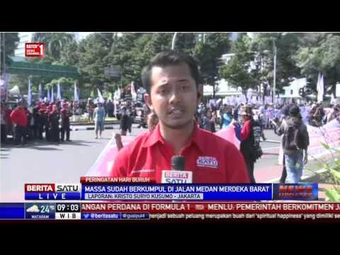 Peringati May Day, Massa Buruh Berkumpul di Silang Monas