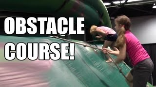 Obstacle course!  VidCon 2016 Day 1! | Life With Jillian & Addie | Babyteeth4
