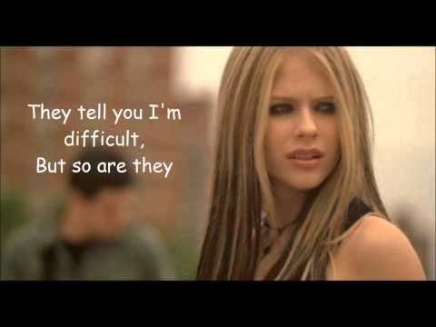 My Happy Ending - Avril Lavigne Lyrics video