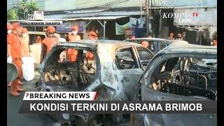 Begini Kondisi Mobil yang Dibakar Massa di Area Asrama Brimob