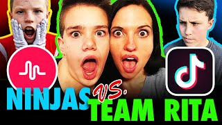 Ninja Kids vs. Tommy & Rita Tik Tok Challenge