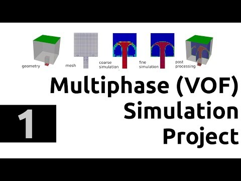 Multiphase simulation project in OpenFOAM in Windows 10 and Ubuntu - tutorial part 1 - intro
