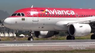 Aviões Pousando e Decolando no Aeroporto Santos Dumont TAM GOL AZUL AVIANCA