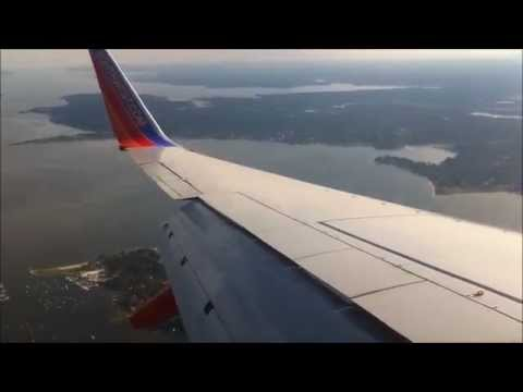 Southwest Airlines B737-700 Landing in Providence