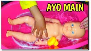 WOW Mainan Anak PerempuaBayi Boneka Lucu Mandi Baby Toy Baby Doll 💕 Bayi Bisa Pipis