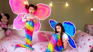 Magic Fairy Mermaid Girls-Colored Butterfly Wings