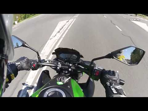 Kawasaki Z800e 35kW A2 0-100kmh 0-60mph from IDLE - Akrapovic exhaust