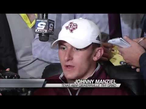 Johnny Manziel Heisman Trophy Preview in NY