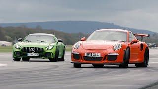 Merc-AMG GT R vs 911 GT3 RS vs BMW M4 GTS - Chris Harris Drives - Top Gear