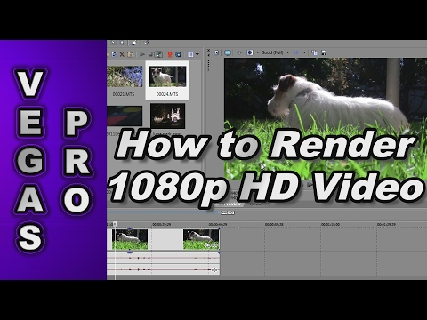 Sony Vegas Pro 12: How to Render 1080p & 720p Video