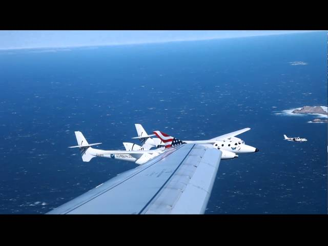 Rendezvous with White Knight and Spaceship 2  Virgin Galactic and Virgin America