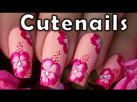 Nail art 10 flower styles technique