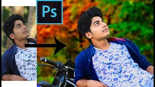 CC photoshop Tutorial   how to make style  photo,Background change and hair style in photoshop