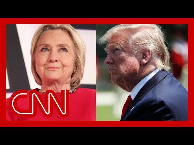 See Clinton's biting response to Trump's new conspiracy thumbnail