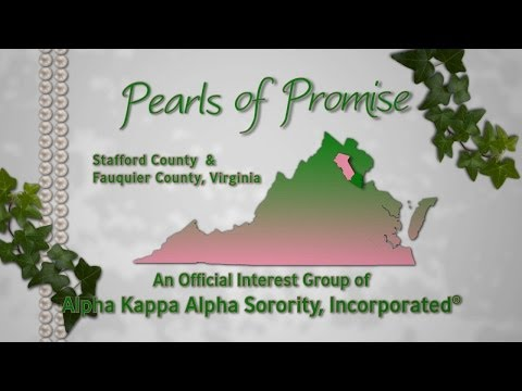 Pearls of Promise is an official interest group of Alpha Kappa Alpha Sorority, Incorporated. http://www.aka1908.com We are a community service organization that serves Stafford and Fauquier...