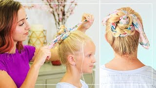 How to Create a Braided Scarf Bun | Bailey's Back to School Hairstyles