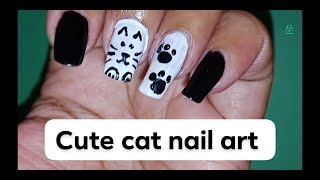 Cute cat Nail art intro