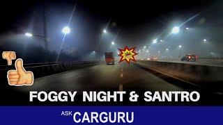 Hyundai Santro, night drive | CARGURU