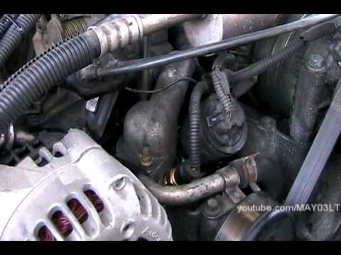 9698    Chevy    CK pickup thermostat replacement  and ground wire repair   YouTube