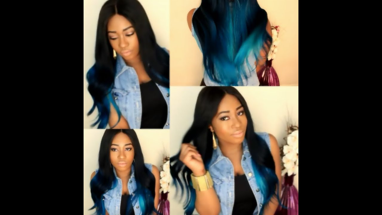 owigs review diyblue ombre hair tutorial youtube