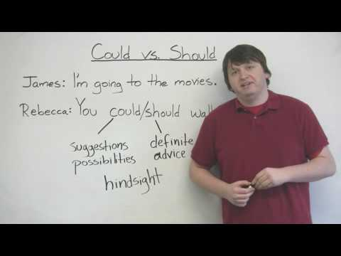 English Grammar – COULD & SHOULD