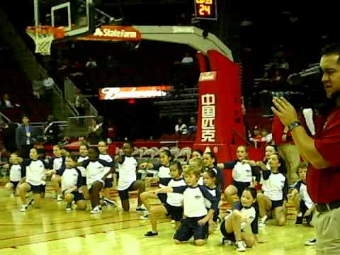 The Village School ROCKS the Houston Rockets Pre Game Performance